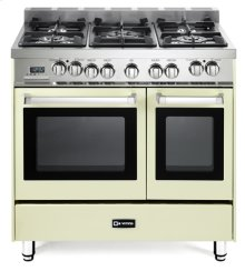 "Antique White 36"" Dual Fuel Double Oven Range - 'N' Series"
