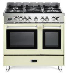 "Antique White 36"" Dual Fuel Double Oven Range - 'N' Series"