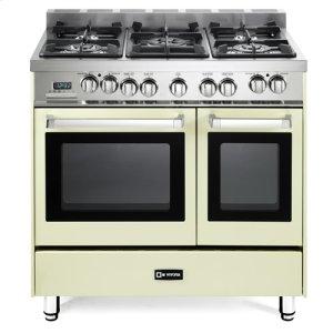 "VeronaAntique White 36"" Dual Fuel Double Oven Range - 'N' Series"