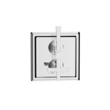 Dual Control Thermostatic With Diverter and Volume Control Valve Trim Leyden Series 14 Polished Chrome 1