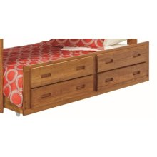 Heartland Under Bed Trundle and Drawers with options: Honey Pine