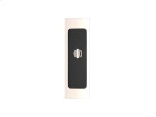 Rectangle Flush Pull - Release Recess Leather In Black Tea And Polished Nickel