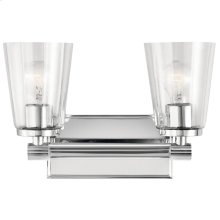 Audrea 2 Light Vanity Light Chrome