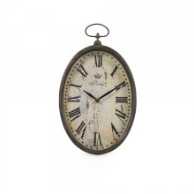 Paris Oval Wall Clock