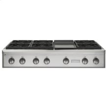 """Monogram 48"""" Professional Gas Rangetop with 6 Burners and Griddle (Natural Gas)"""