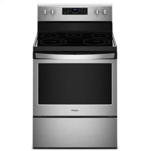 5.3 cu. ft. Freestanding Electric Range with Frozen Bake Technology - FINGERPRINT RESISTANT STAINLESS STEEL