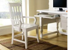 "Bella Arm Chair, White, 23""x24""x39"""