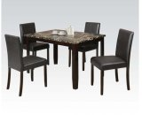 5pc Pk Dining Set W/crk Faux M Product Image