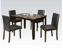 5pc Pk Dining Set W/crk Faux M
