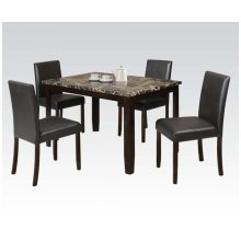 5pc Pk Dining Set W/crk Faux M