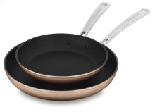 "Hard Anodized Non-Stick Twin Pack Skillet Set (10""/12"") - Toffee Delight"