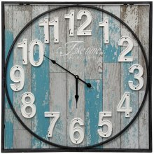 Wooden & Metal Wall Clock  23in X 23in X 2in