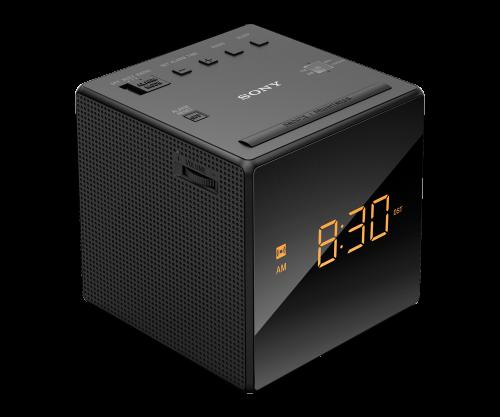 BLACK Alarm Clock with FM/AM Radio  BLACK