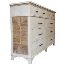 Dresser with 8 Drawers, Available in Coral White Finish Only.
