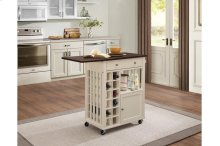 Kitchen Cart with Drop Leaf