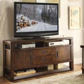 Riata - 60-inch TV Console - Warm Walnut Finish