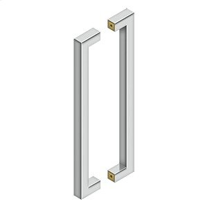 """18"""" Contemporary Pulls, Back-To-Back - Polished Stainless"""