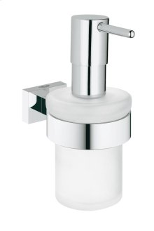 Essentials Cube Soap dispenser with holder