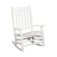 Slat Rocker in Antique Gray