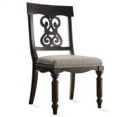 Belmeade Scroll Upholstered Side Chair Raven Black finish Product Image