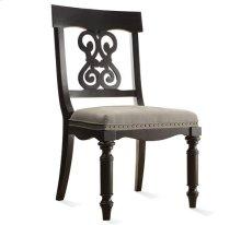Belmeade Scroll Upholstered Side Chair Raven Black finish