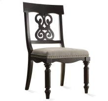 Belmeade Scroll Upholstered Side Chair Raven Black finish