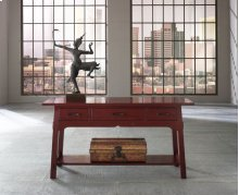 Yesterday River Console Table w/ Three Drawers & Shelf