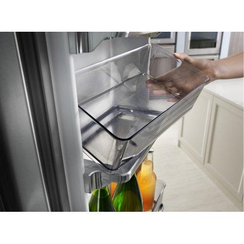 "23.8 cu. ft. 36"" Counter-Depth French Door Platinum Interior Refrigerator with PrintShield Finish - Stainless Steel"
