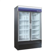 29 cu ft 2 Door Mechandiser Freezer (Black)