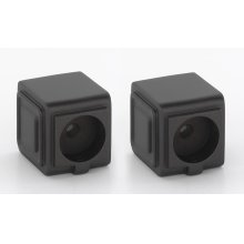 Cube Shower Rod Brackets A6546 - Chocolate Bronze
