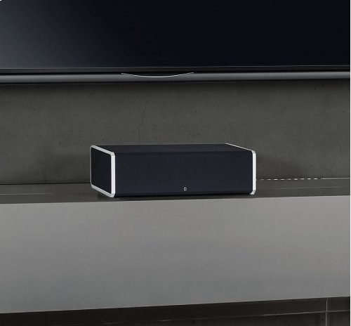 """High-Performance Center Channel Speaker with Integrated 8"""" Powered Subwoofer and Bass Radiator"""