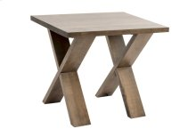 Rectangular Side Table / Solid Wood Rustic Birch
