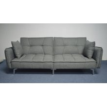 Modern Grey and Chrome Sofa Bed