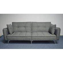 Modern Grey and Chrome Sofa Bed
