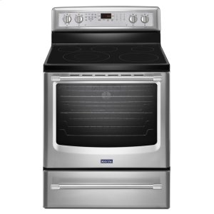 Maytag30-inch Wide Electric Range with Convection and Power Preheat - 6.2 cu. ft.