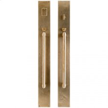 "Metro Entry Set - 3 1/2"" x 30"" White Bronze Light"