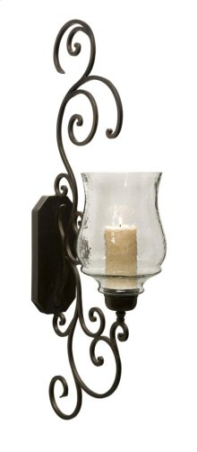 Angelina Grand Scrollwork Candle Sconce