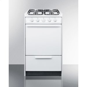 "Summit20"" Wide Slide-in Gas Range In White With Sealed Burners and Electronic Ignition; Replaces Wnm114r/wtm1107srt"