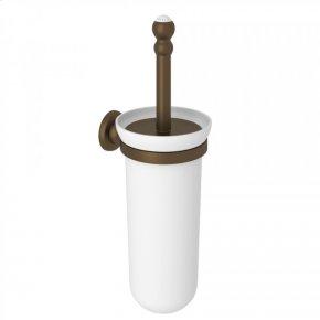 English Bronze Perrin & Rowe Edwardian Wall Mount Toilet Brush Holder