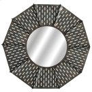 Round Galvanized Slot Windmill Wall Mirror. Product Image