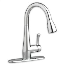 Polished Chrome Quince High Arc Kitchen Faucet with Pull-Down Spray