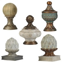 Velencia Finial Group  Set of Five Decorative Accessories  Traditional