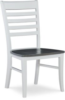 Roma Chair Heather Gray / White Product Image