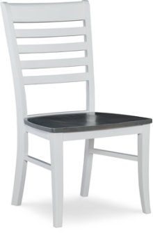 Roma Chair Heather Gray / White