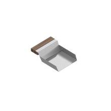 VeggieScoop 205238 - Stainless steel sink accessory , Walnut