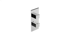 M-Series Square Thermostatic 2-Hole Trim Plate and Handle
