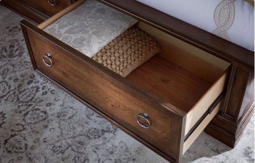 Latham Panel Bed w/ Storage Footboard, King 6/6