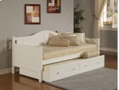 Staci Trundle Daybed White