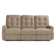 Devon Leather Power Reclining Sofa without Nailhead Trim