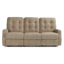 Devon Leather Power Reclining Sofa without Nailhead Trim